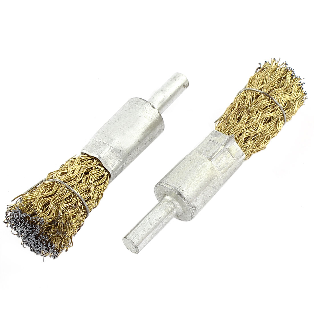 2pcs 16 x 30mm Steel Wire Pen Shape Polishing Grinding Brush Rotary Tool