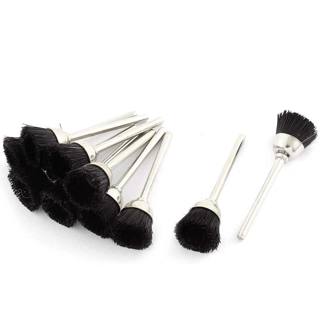 Black 15mm Dia Nylon Polishing Brushes Jewelry Cleaning Buffing Tools 10pcs