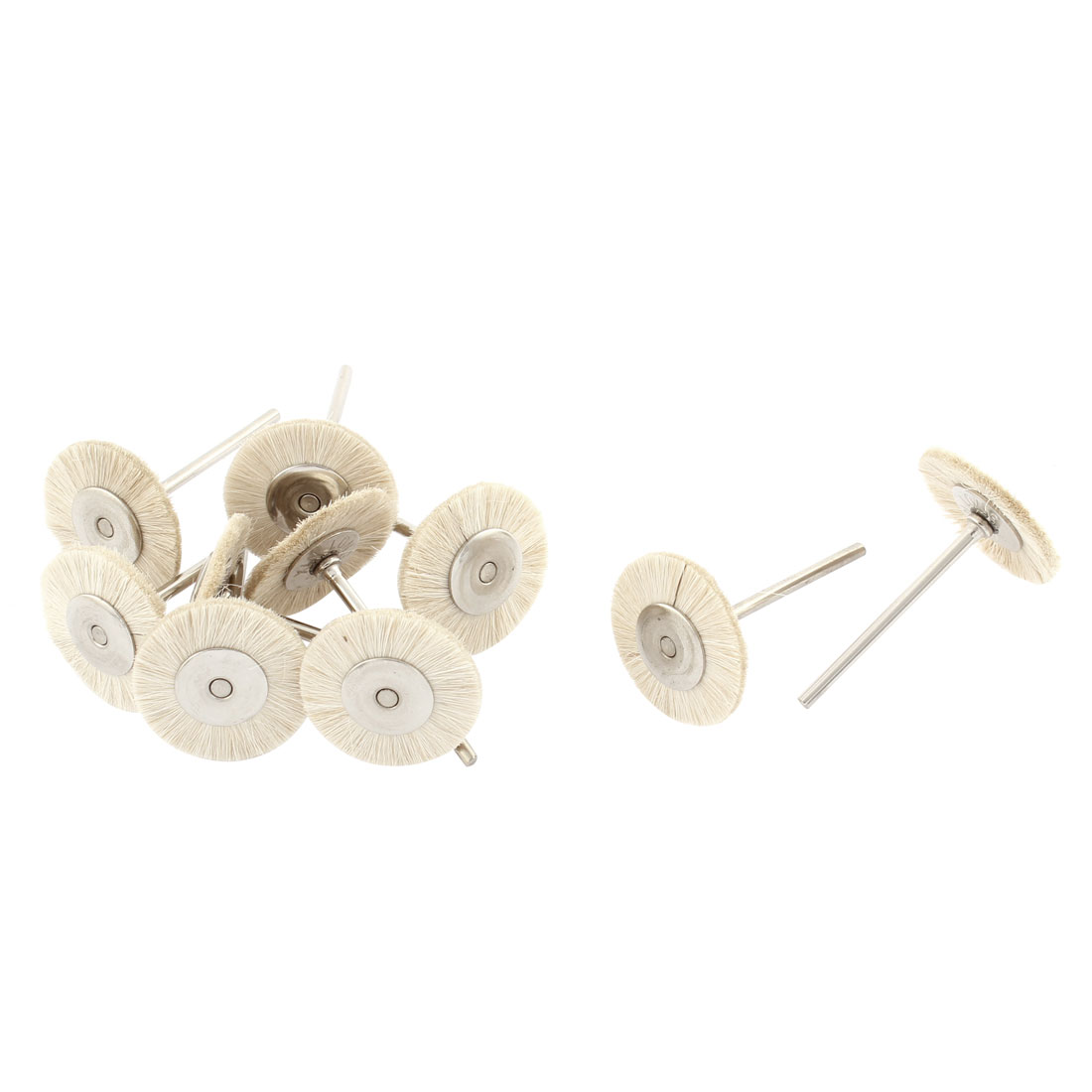 Rotary Tool Jewelry Buffing Cleaning Mop 25mm Nylon Head Polishing Wheels 10pcs
