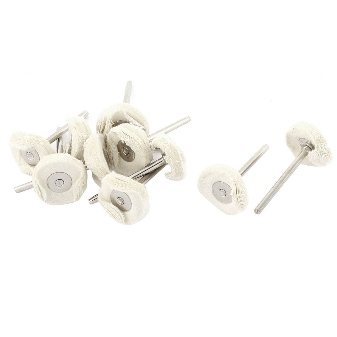 Rotary Tool Jewelry Buffing Cleaning Mop 22mm White Cloth Polishing Wheels 10pcs