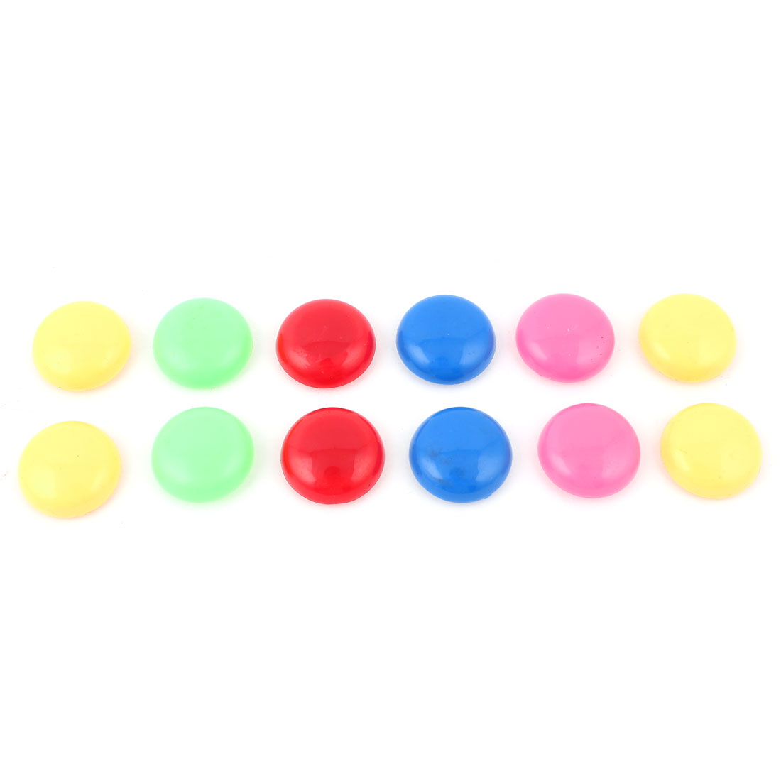 12pcs 29mm Dia Assorted Color Plastic Round Blackboard Whiteboard Fridge Magnetic Sticker