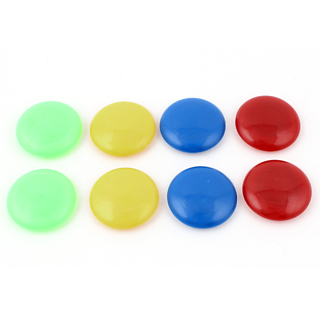 8pcs 39mm Dia Assorted Color Plastic Round Blackboard Whiteboard Fridge Magnetic Sticker