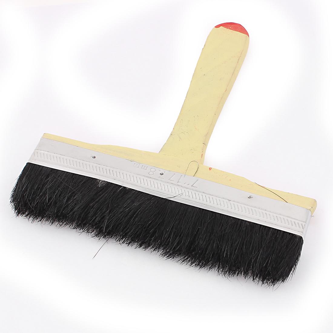 """7"""" Width Black Faux Fur Hair Wood Handle Metal Ferrule Paint Painting Brush 20cm Length"""