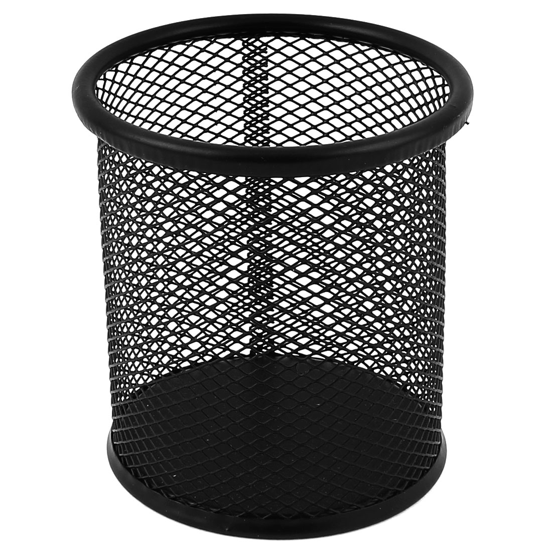 Office Space Supply Black Metal Mesh Cylindrical Pen Pencil Cup Desk Organizer Holder Container