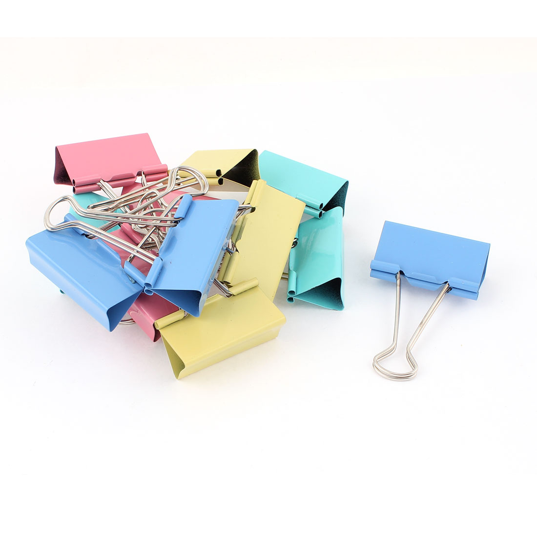School Office Metal Bookbinding Clamp Binder Paper Clips Document Organize Stationery 51mm 12pcs