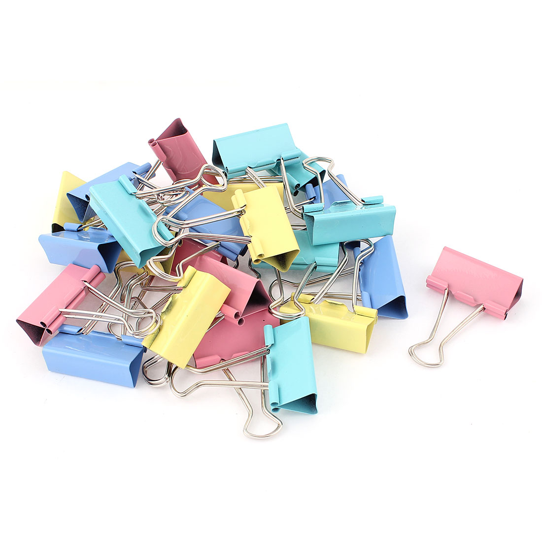 School Office Metal Document Organize Stationery Paper Clamp Binder Clips 24pcs
