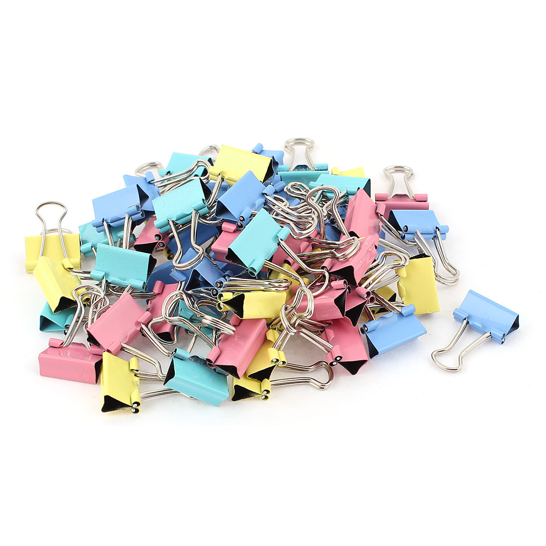 School Office Paper Document Organize Stationery 15mm Metal Bookbinding Clamp Binder Clips 60pcs