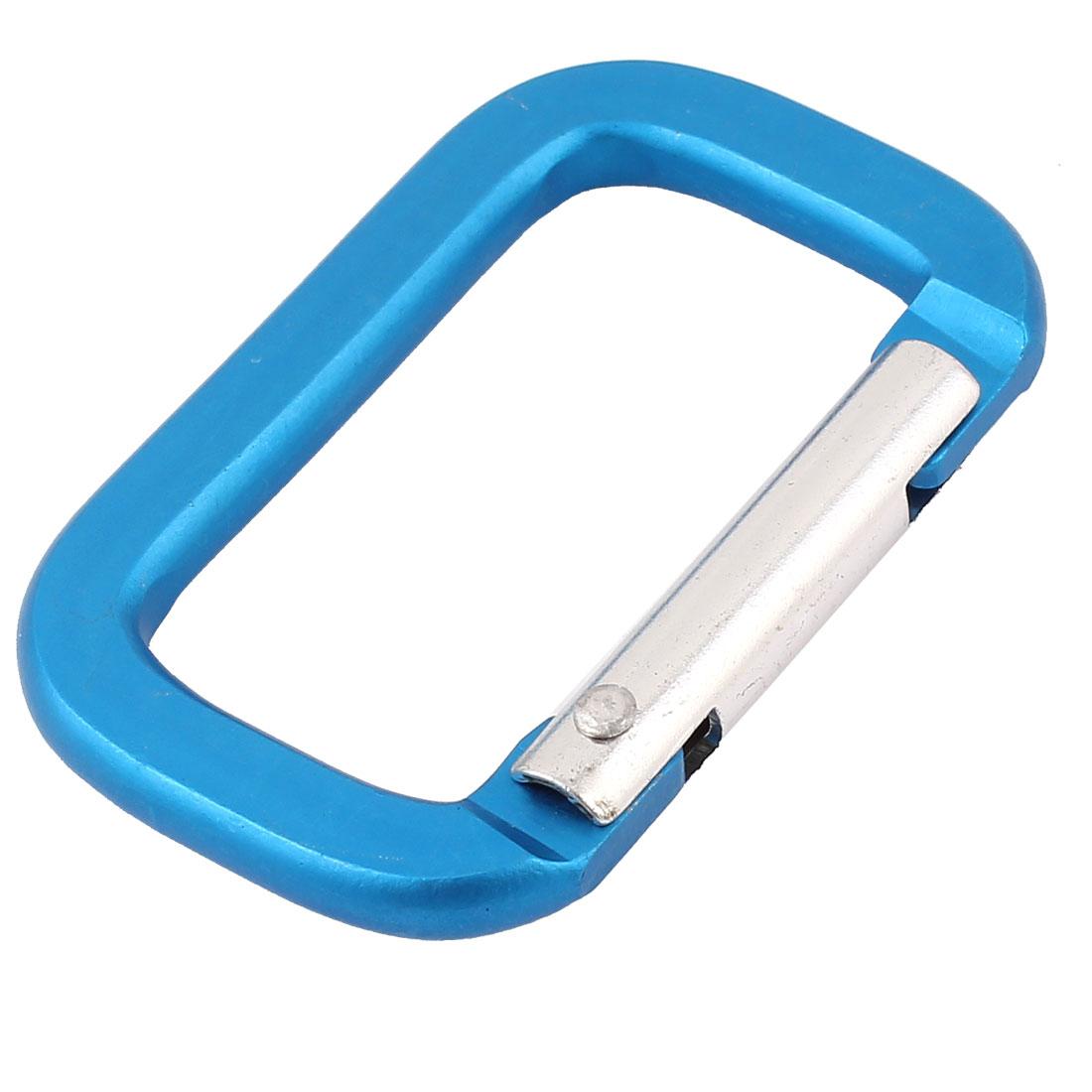 Camping Hiking Sport Karabiner Carabiner Clip Snap Hook Keychain Keyring Blue