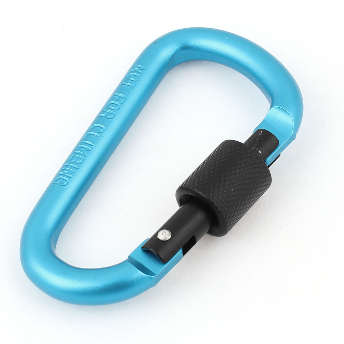 Camping D Shape Screw Lock Carabiner Snap Hook Karabiner Keychain Keyring Cyan