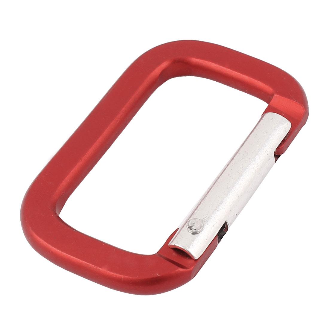 Camping Hiking Sport Karabiner Carabiner Clip Snap Hook Keychain Keyring Red