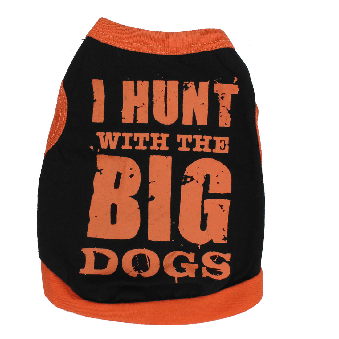 I HUNT BIG DOG Pet Cat Undershirt Summer T-shirt Clothes Apparel Black Size XS