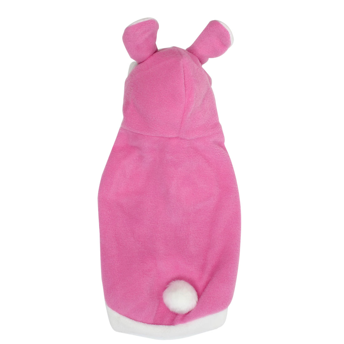 Rabbit Style Pet Cat Puppy Cosplay Hooded Coat Clothes Costume Pink Size M