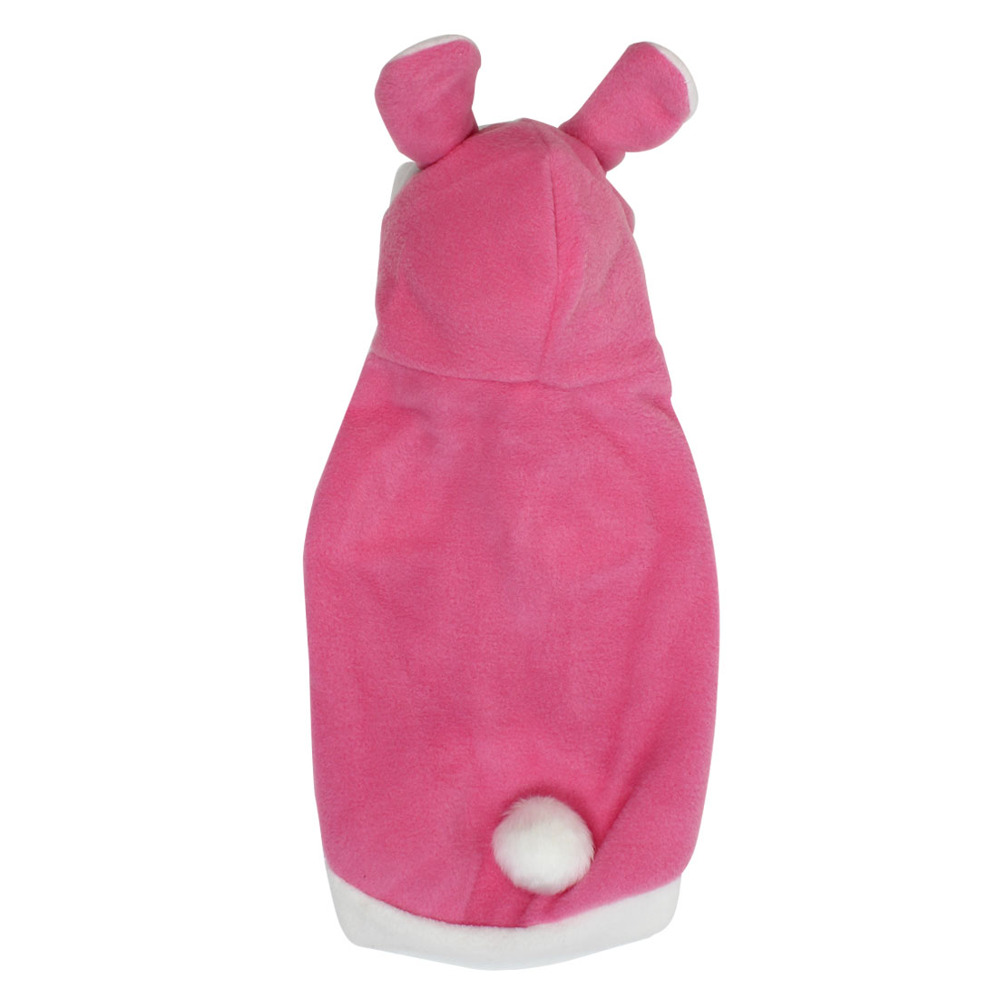 Rabbit Style Pet Dogs Puppy Cosplay Hooded Coat Clothes Costume Pink Size L