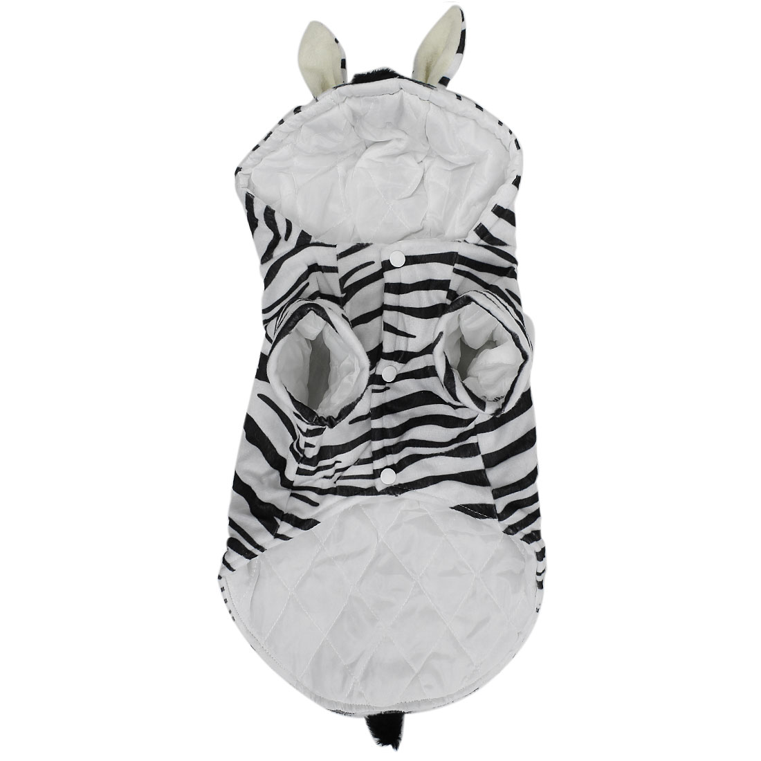 Zebra Style Pet Dogs Puppy Cosplay Hooded Coat Clothes Costume Black White Size XS