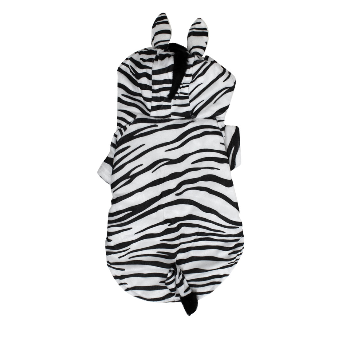 Zebra Style Pet Dogs Puppy Cosplay Hooded Coat Clothes Costume Black White Size M