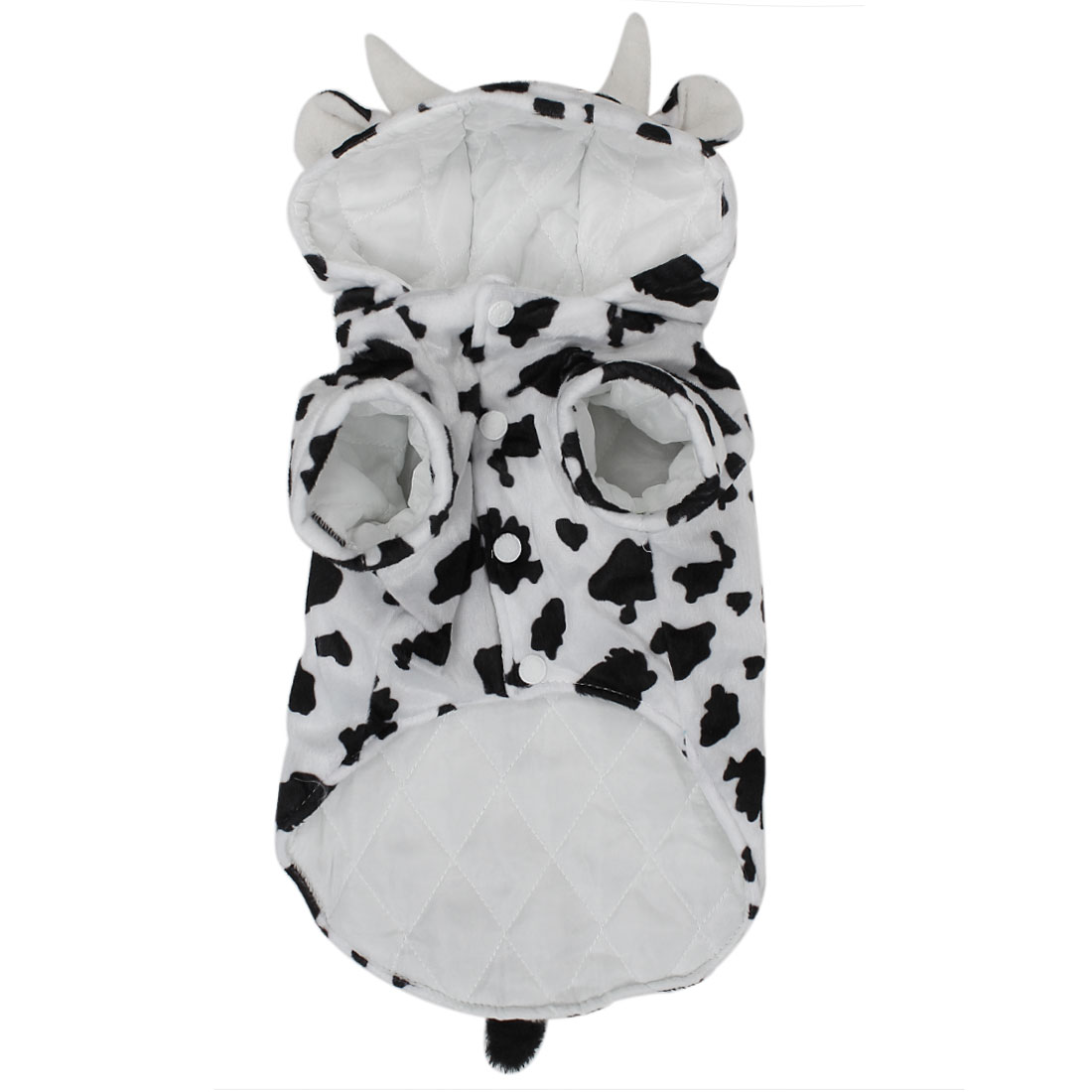 Cows Style Pet Dog Puppy Cosplay Hooded Coat Clothes Costume Black White Size L