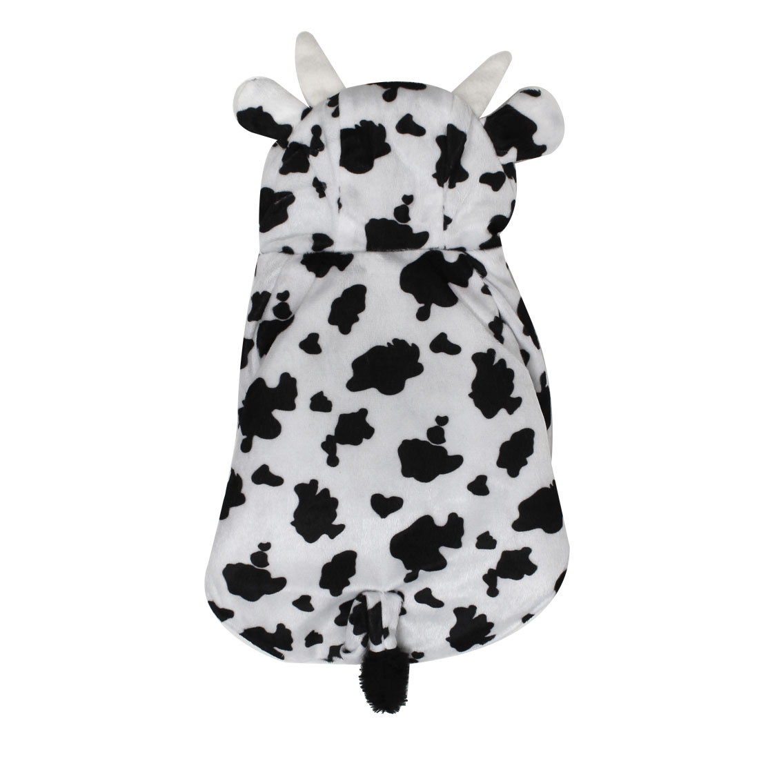 Cows Style Pet Dog Puppy Cosplay Hooded Coat Clothes Costume Black White Size XL