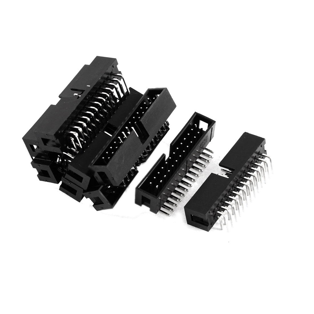 PCB Board Double Rows 26 Pins Header Socket Connector Black 9 Pcs