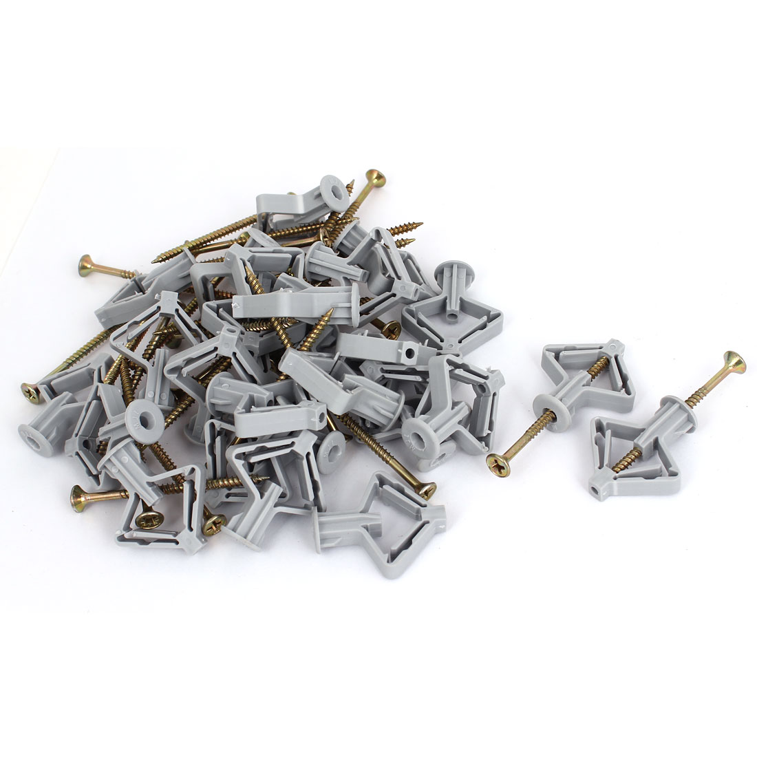 Wall Curtain Gypsum Board Hollow Expansion Pipe Screw Archor Bolt Plugs 30pcs