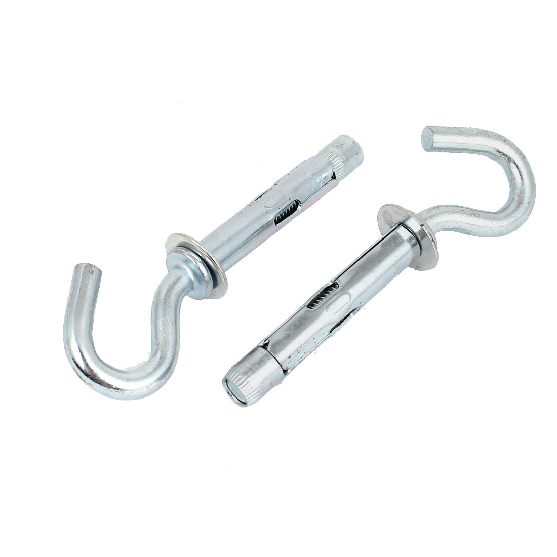2 Pcs 100mm Long C Type Hook Bolts Expansion Sleeve Anchors Fastener M8x55mm