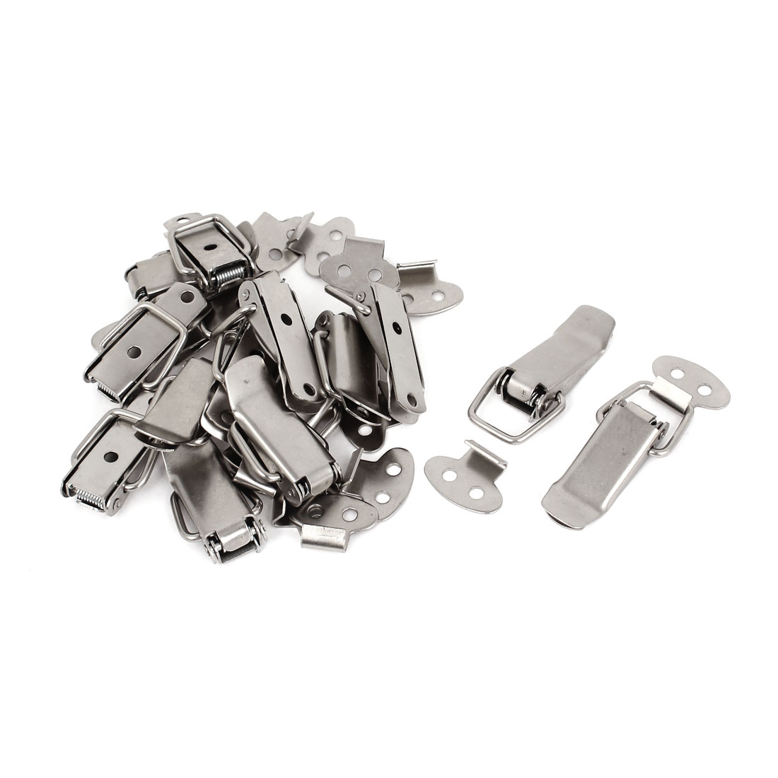Case Box Stainless Steel Spring Loaded Draw Toggle Latch Clamp Clip Set 15pcs