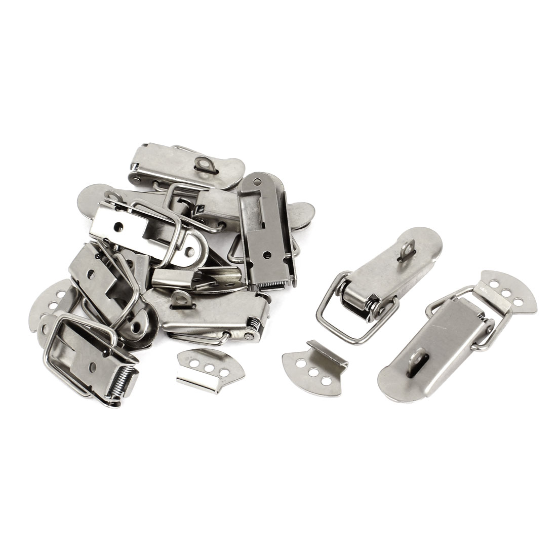 Chests Cases Stainless Steel Spring Loaded Lock Clasp Toggle Latch Hasp 10 Set