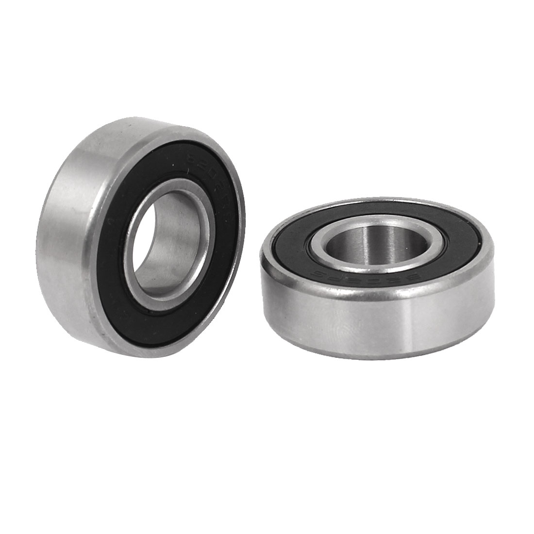 2 Pcs 6202RS 15mmx35mmx11mm Sealed Deep Groove Radial Ball Bearings