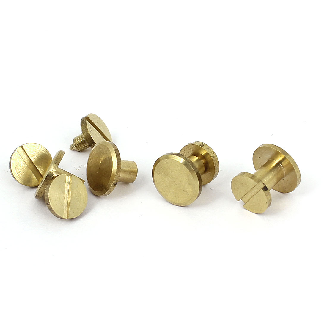 5x7mm Brass Plated Binding Chicago Screw Post For Albums Scrapbook 5pcs