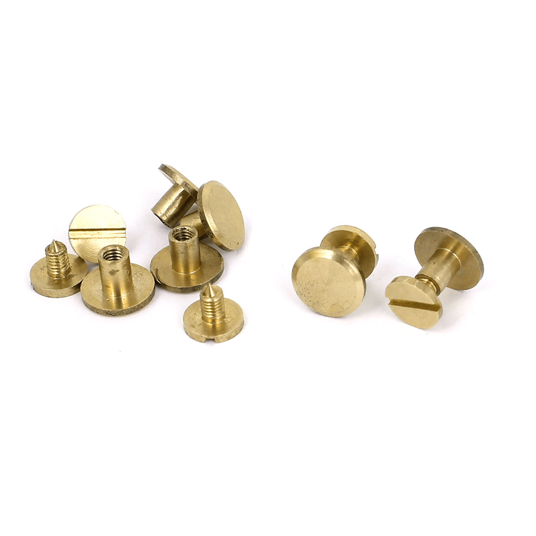 4x7mm Brass Plated Binding Chicago Screw Post For Albums Scrapbook 5pcs