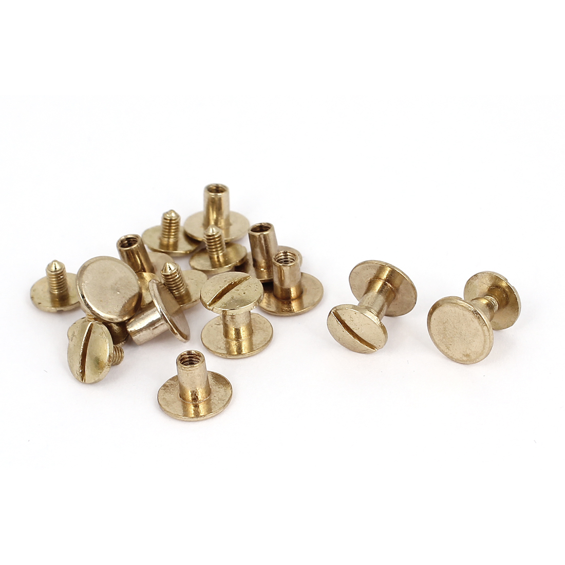 4.5x7mm Brass Plated Binding Chicago Screw Post For Albums Scrapbook 10pcs
