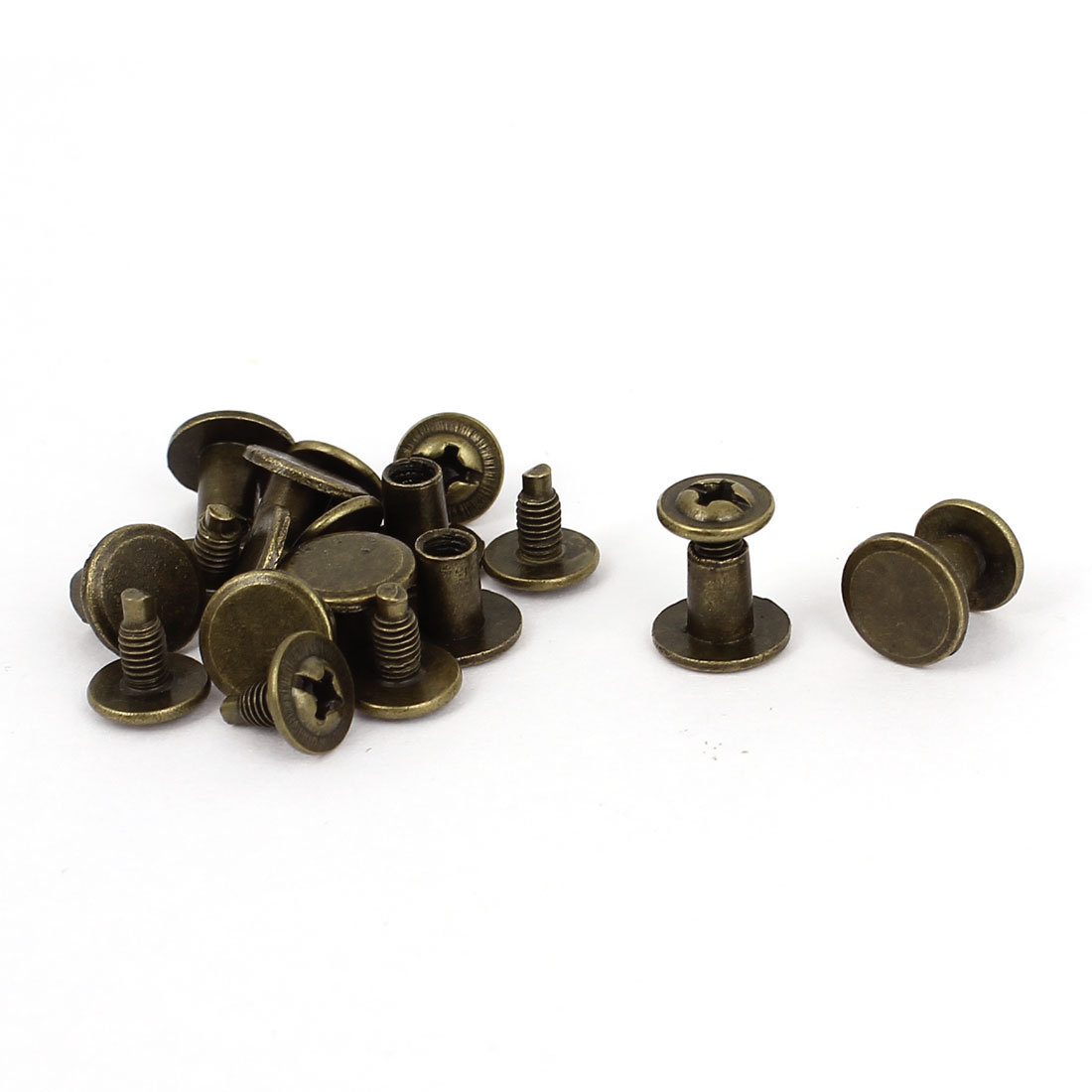 10pcs 4.5mmx6mm Bronze Plated Binding Screw Post For Leather Photo Albums Belt