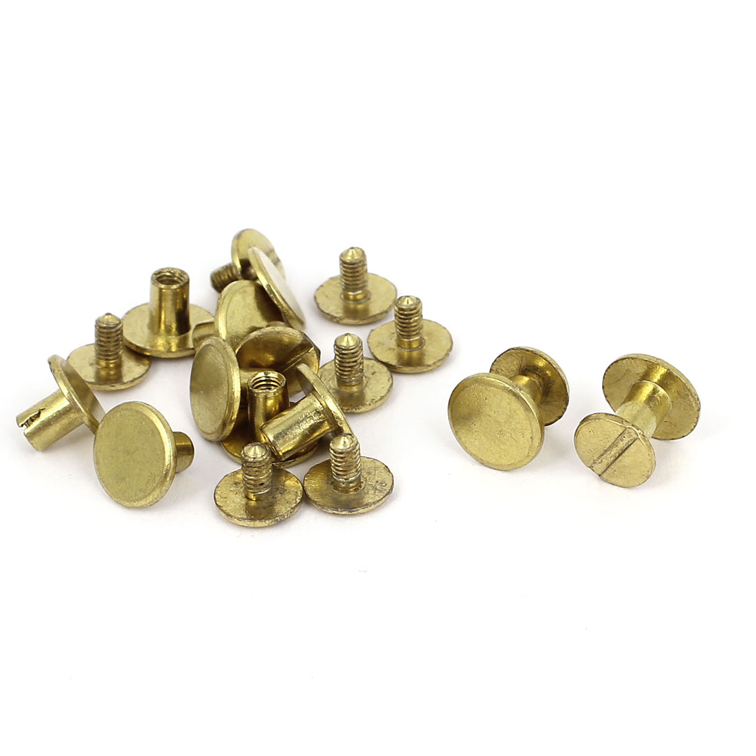 4.5x7.5mm Brass Plated Binding Chicago Screw Post For Albums Scrapbook 10pcs
