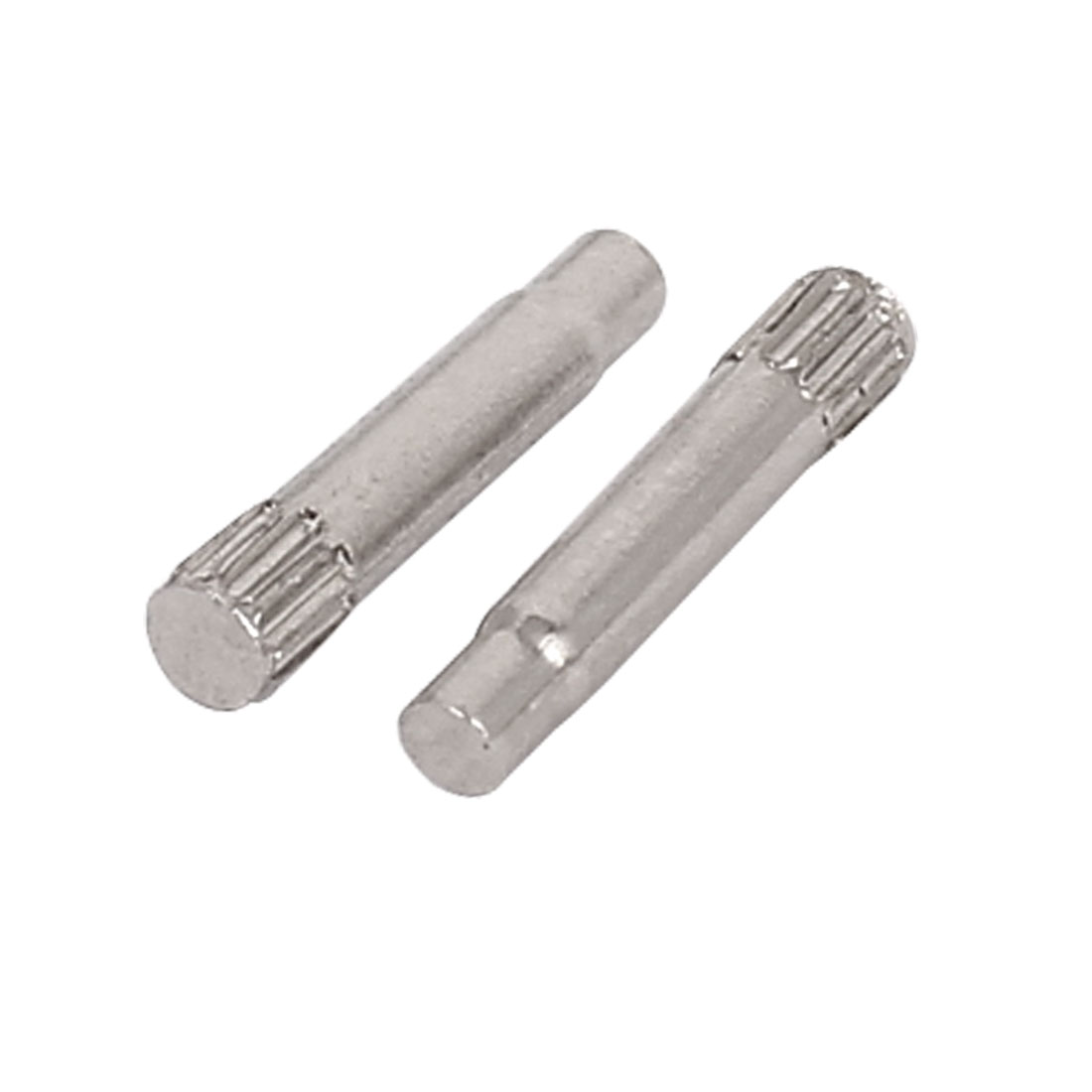 2.5mmx10mm Binding Chicago Screw Post For Leather Purse Belt Silver Tone 2pcs