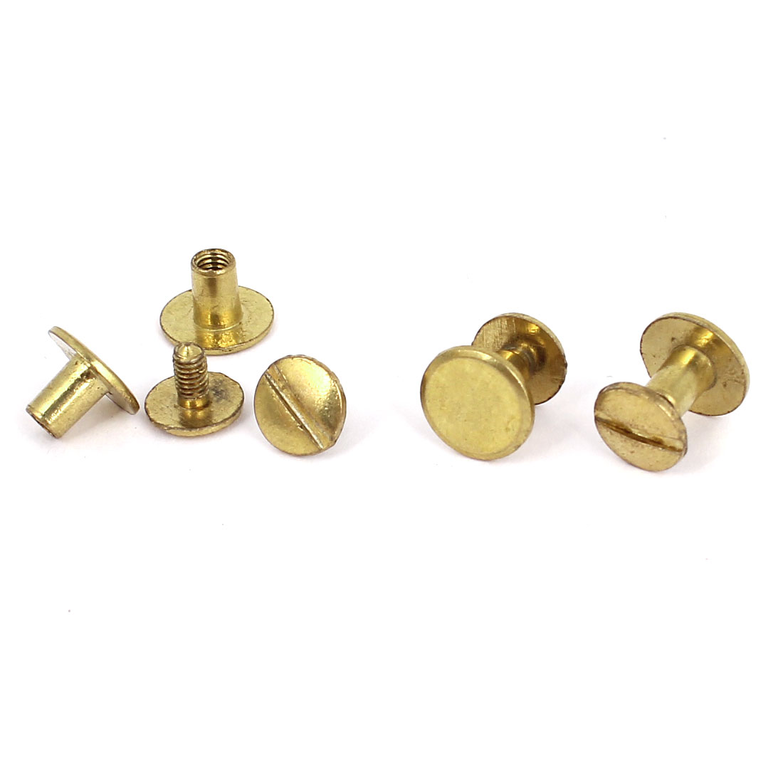 Brass Plated 4.5x7mm Binding Chicago Screw Post 4pcs for Albums Scrapbook