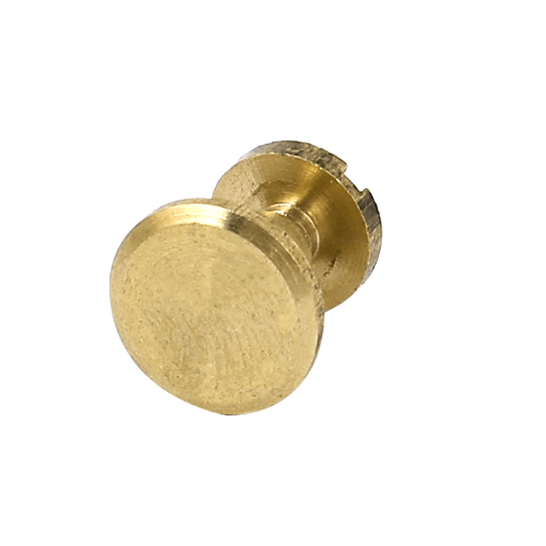 4mmx7mm Brass Plated Binding Screw Post for Leather Purse Belt