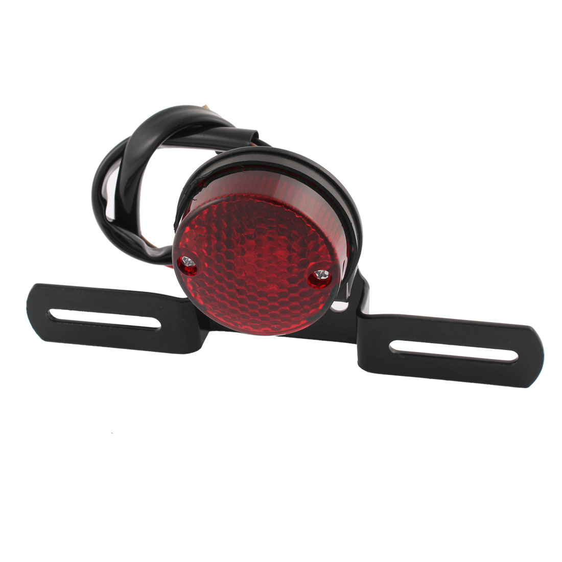 Motorcycle Red LED Tail Light Custom License Plate Holder DC 12V