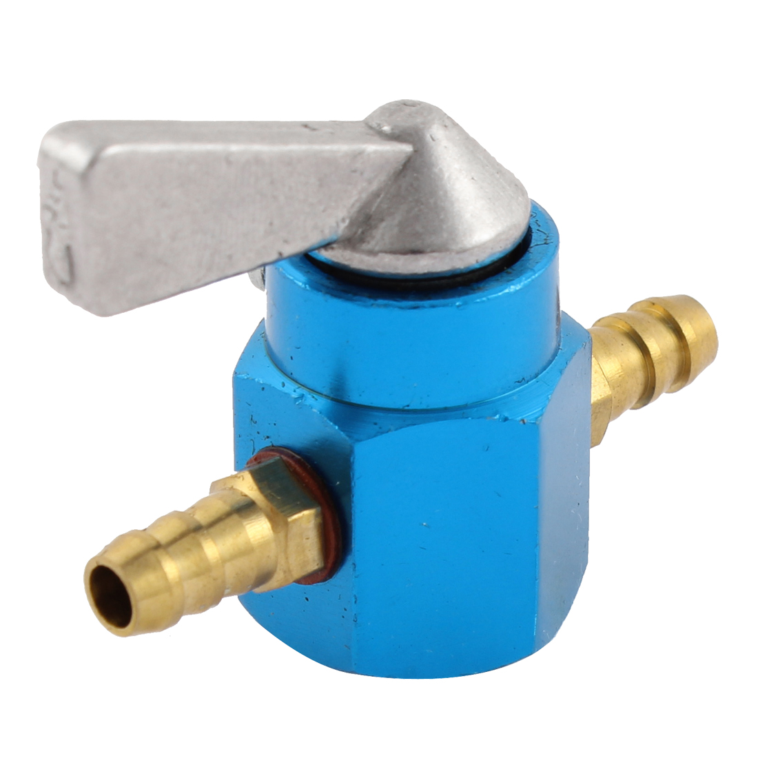 4mm Universal Motorcycle Bike Pit Scoote In-line Petrol ON-OFF Fuel Tap Switch Blue