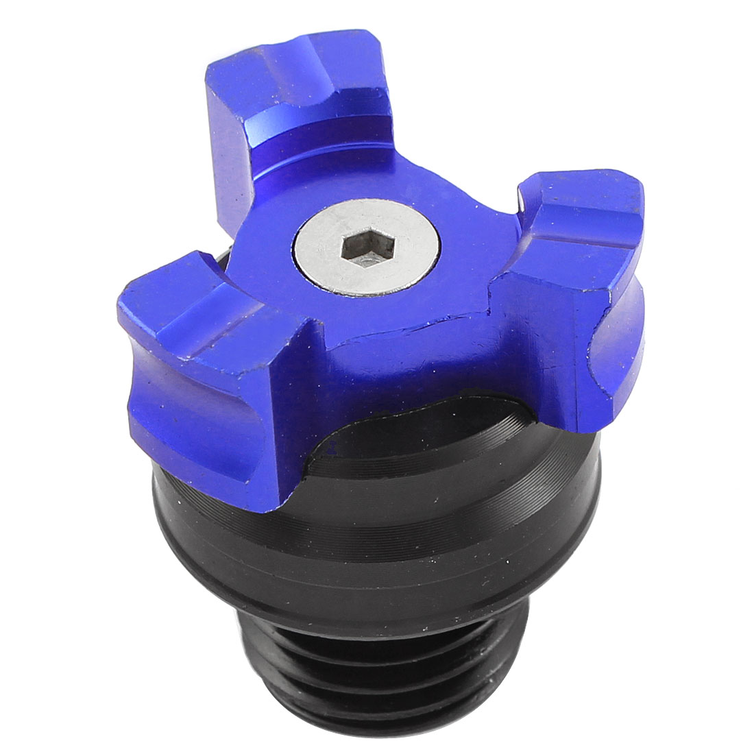 16mm Threaded Blue Metal Auto Engine Oil Filler Fuel Cover Cap Screw