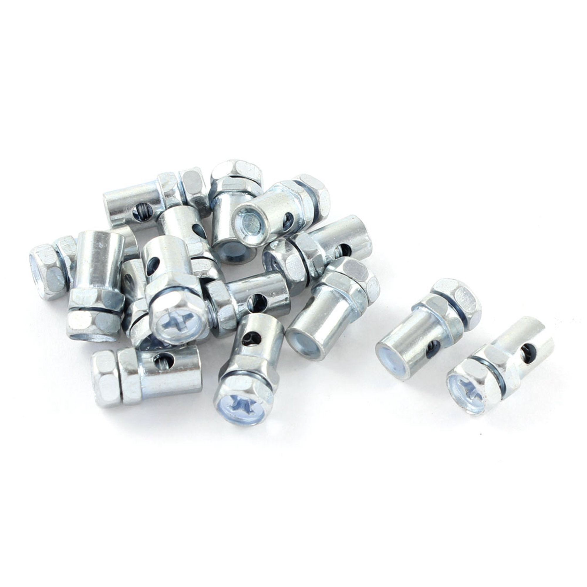 15 Pcs 2mm Solderless Nipple Phillips Head Screw Motorcycle Cable Bolts Top Fitting