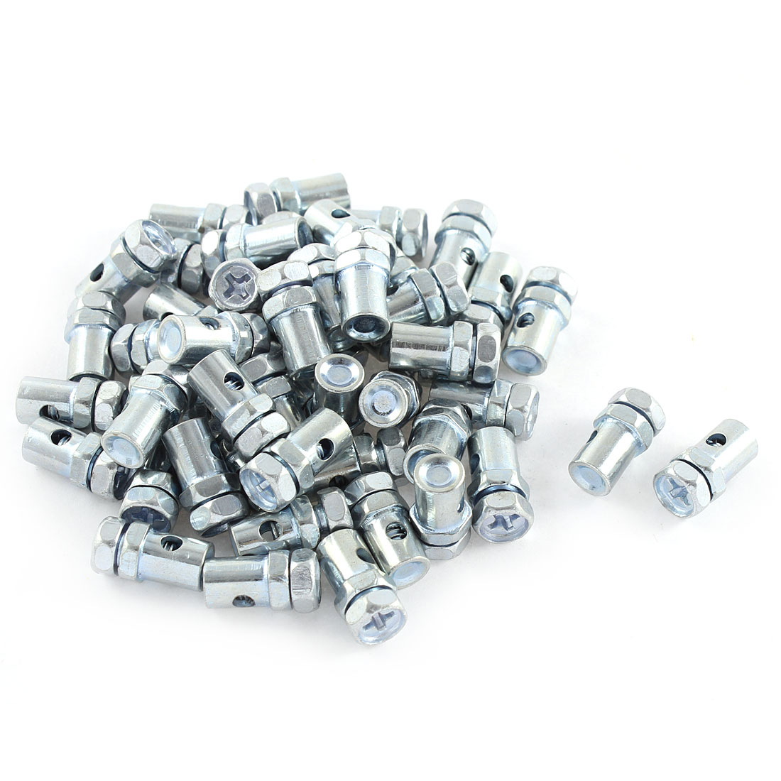 50 Pcs 8mm x 2mm Solderless Nipple Phillips Head Screw Motorcycle Cable Bolts Top Fitting Barrel Type