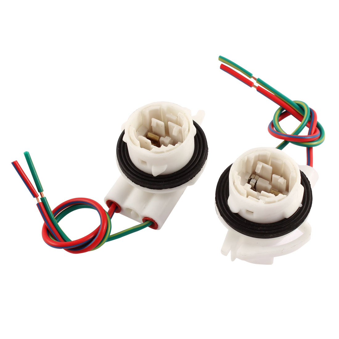 Car 3156 Bulb Turn Signal Light Socket Extension Connector Lamp Holder 2pcs