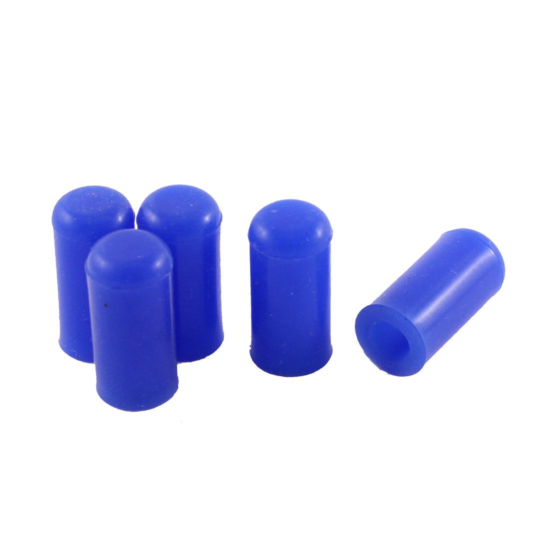 "Blue 6mm 1/4"" Silicone Blanking Cap Intake Vacuum Hose End Bung 5pcs"