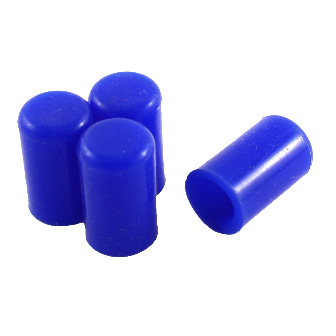"Blue 12mm 15/32"" Silicone Blanking Cap Intake Vacuum Hose End Bung 4pcs"