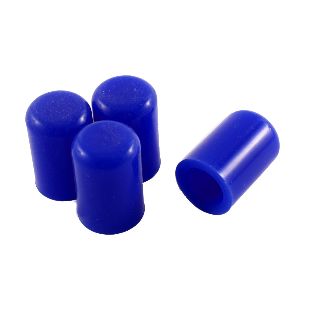 4 Pcs 16mm Blue Silicone Blanking Cap Intake Vacuum Hose End Bung Plug