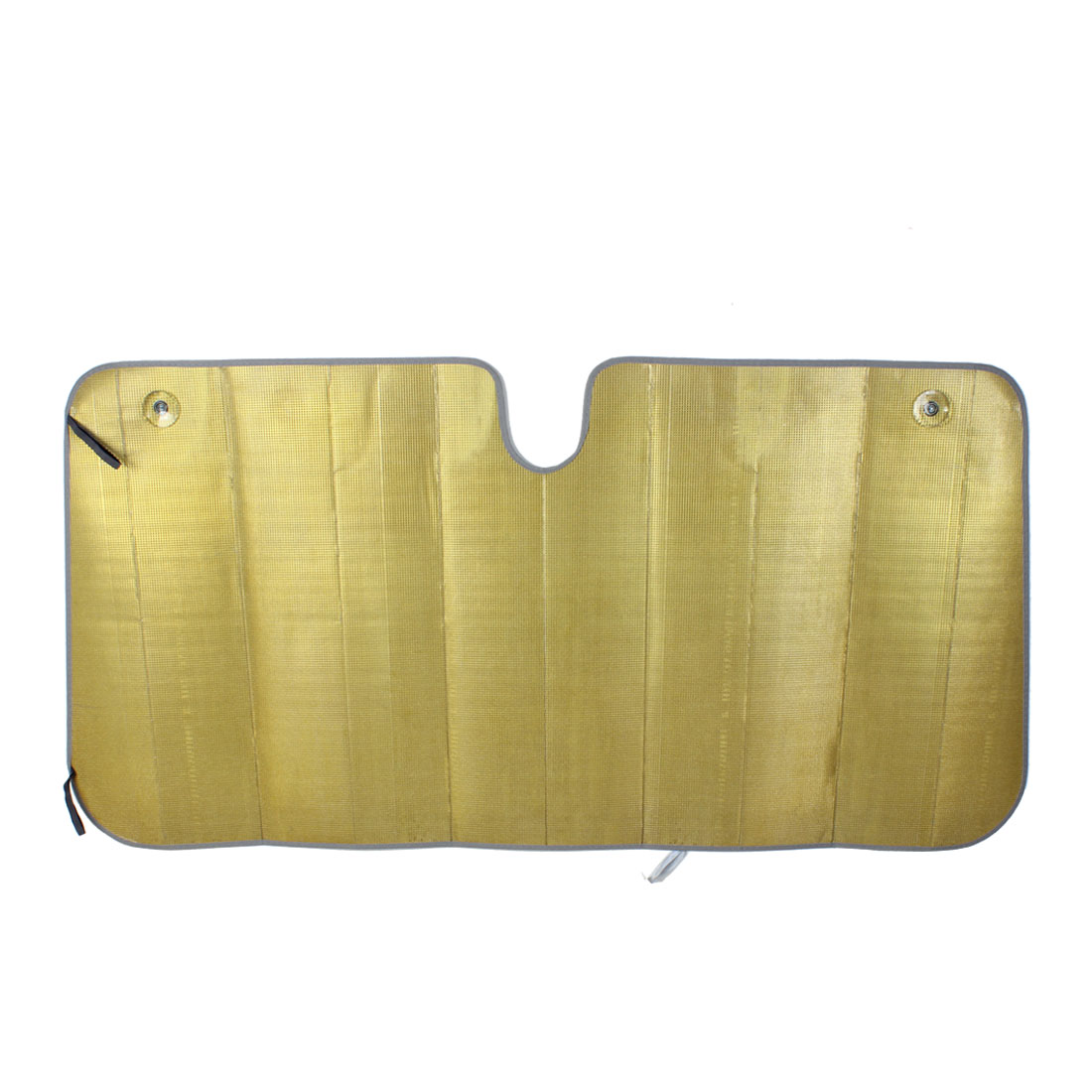 Gold Tone Foldable Auto Front Rear Windscreen Sunshade Cover 142cm x 70cm