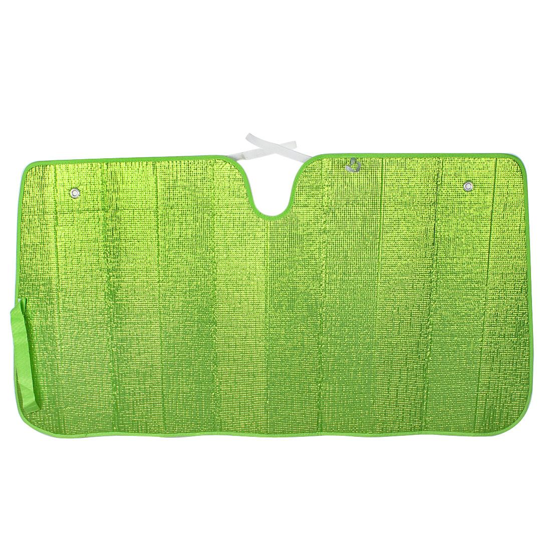 137 x 72cm Green Folding Car Front Rear Windscreen Windshield Sunshade Visor