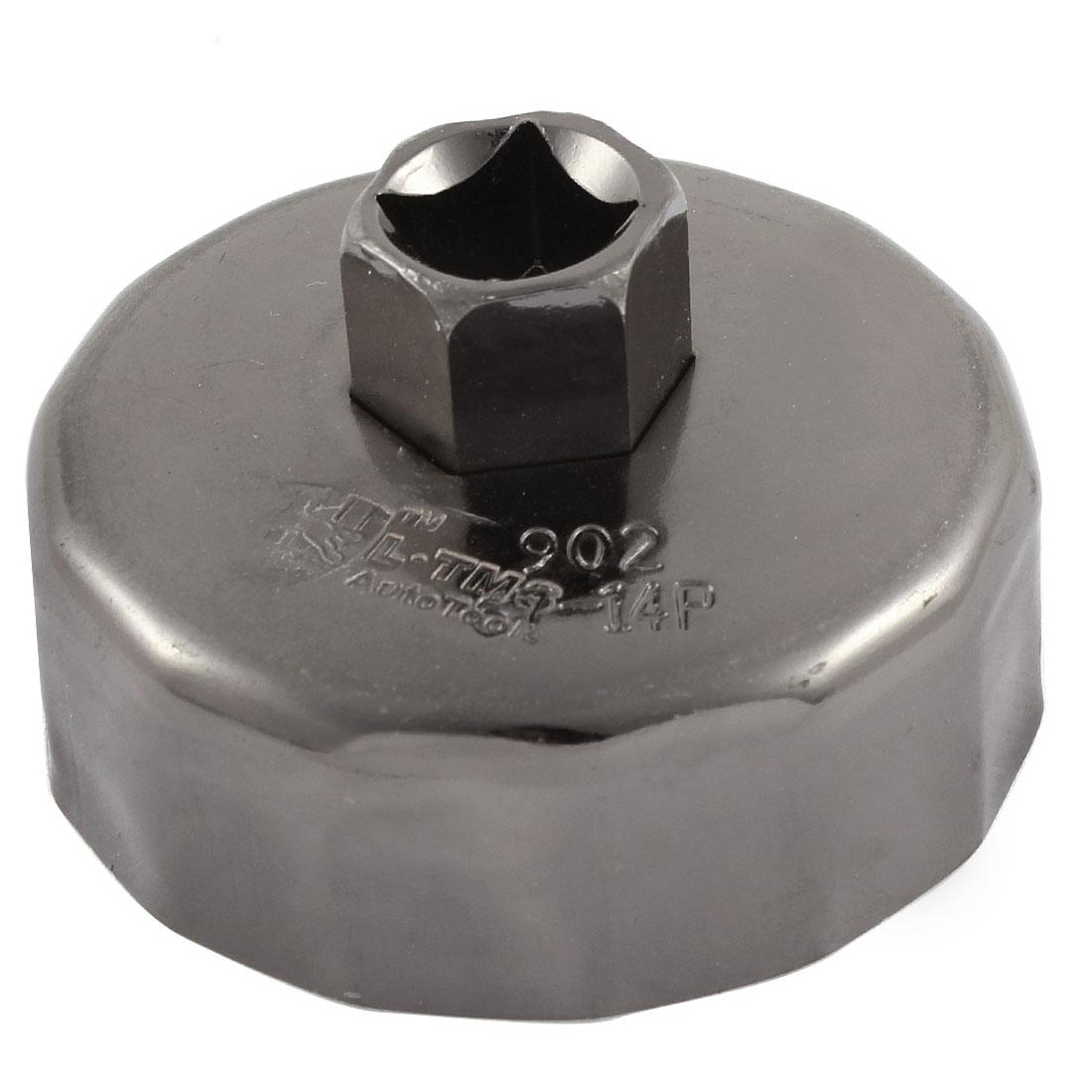 Car Vehicle Black Metal Oil Filter Cap Wrench Socket Cup Tool 68mm Inner Dia