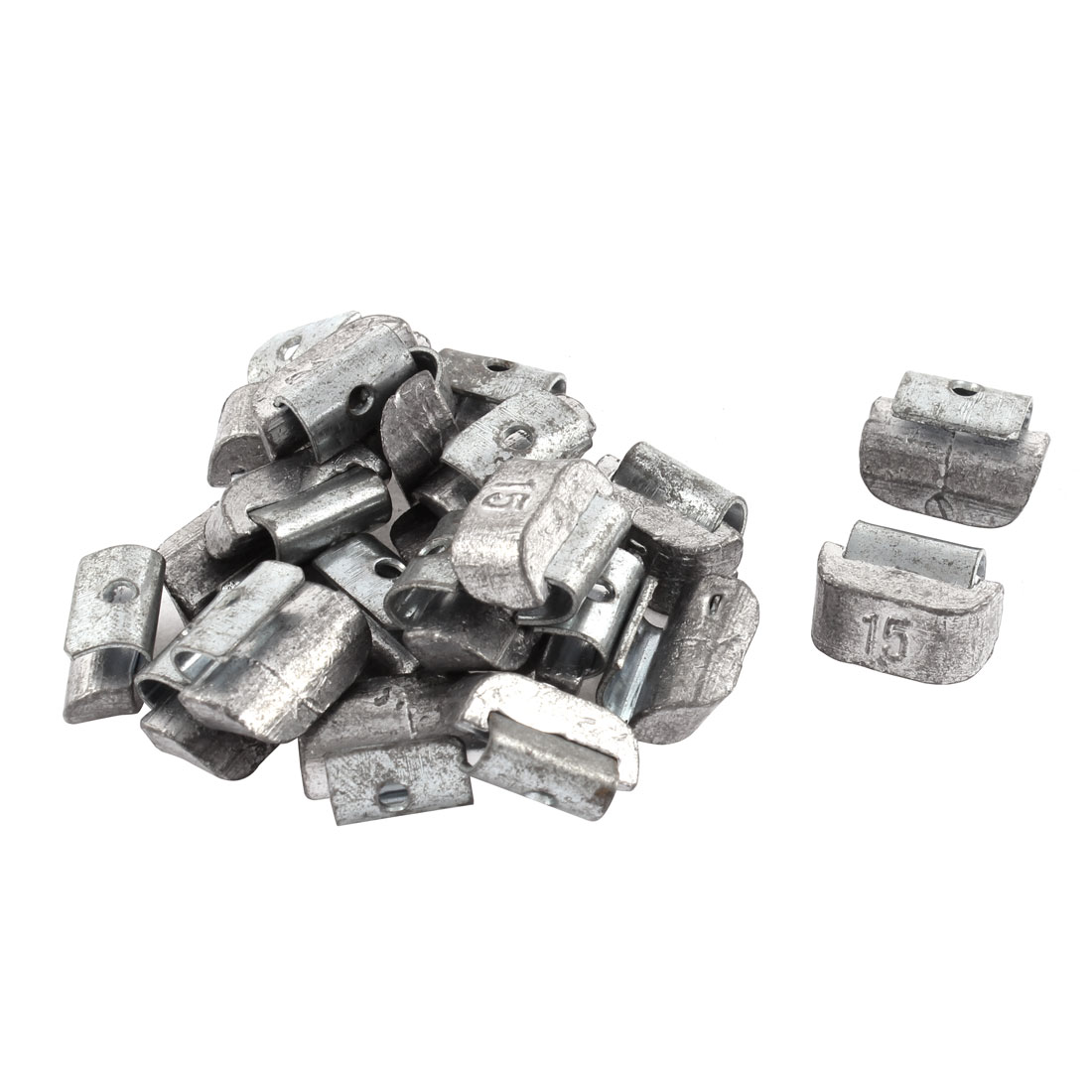 22 Pcs Sliver Tone Metal Clip On Tire Wheel Balancing Weights 15g for Car Auto