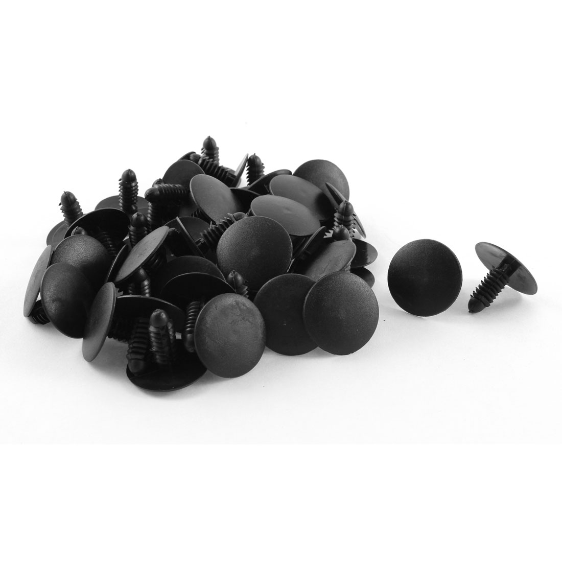 50 Pcs 25mm Head Dia Push in Plastic Rivets Car Door Panel Retainer Fastener Black