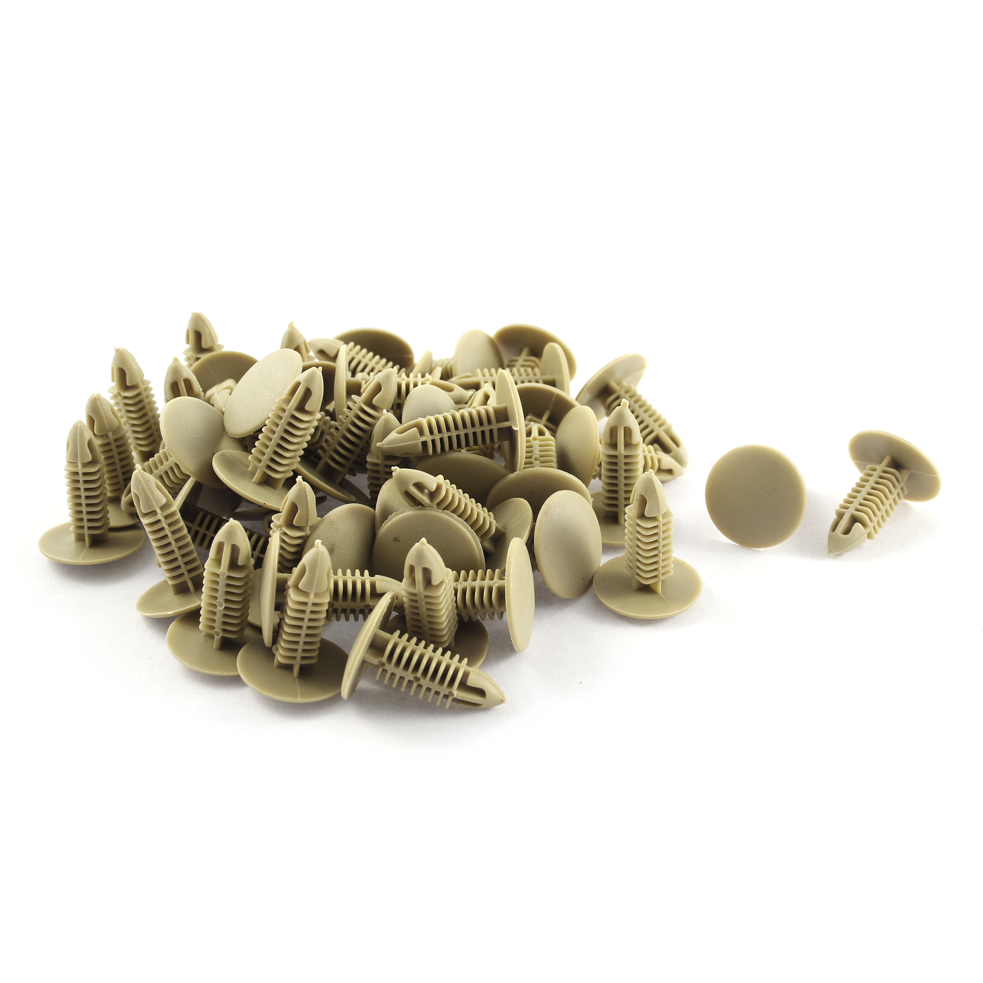 50pcs 6mm Hole Beige Push Plastic Rivets Fastener Door Trim Panel Clip for Car Auto